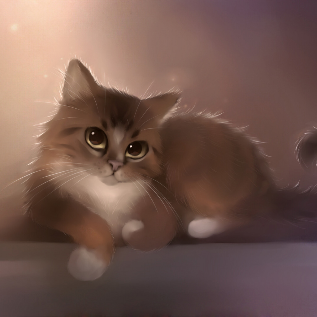 Рисунок котенок и кот