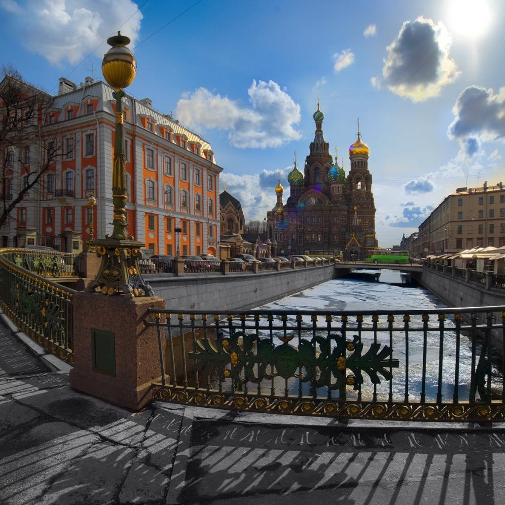 Картинки города санкт петербурга, буря создать