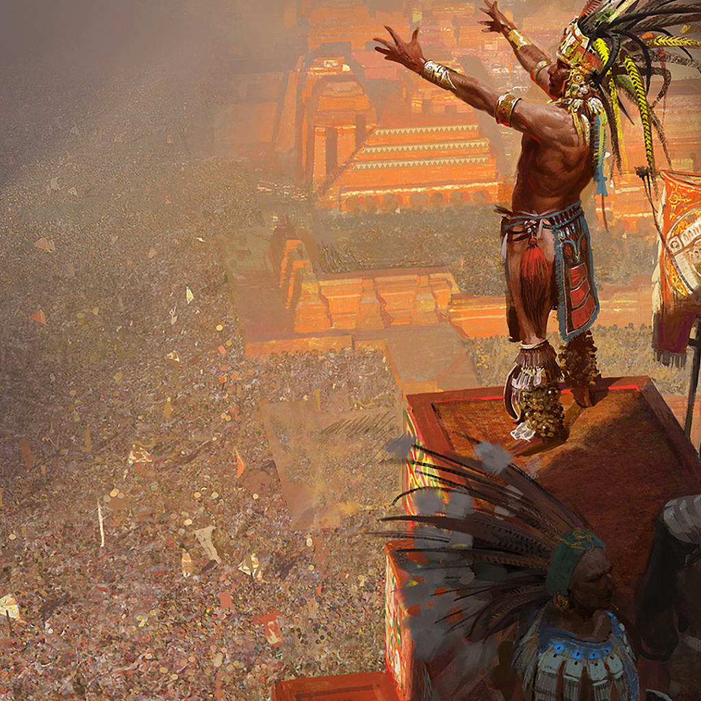 mayan sacrifice ceremony - HD 1024×1024