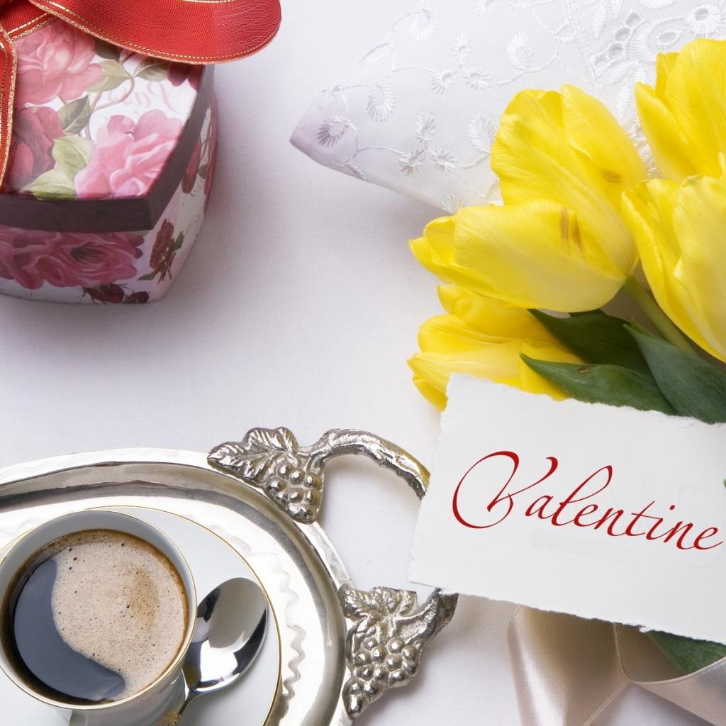 картинки с днем святого валентина кофе