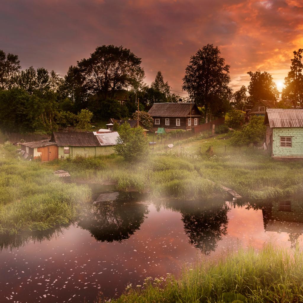 Картинки лето деревня на рабочий стол