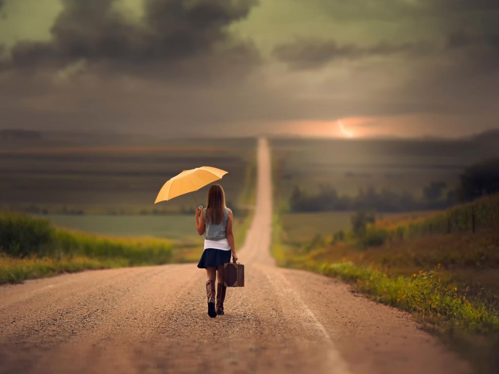 Картинки девушка уходит в даль по дороге, католической пасхой картинках