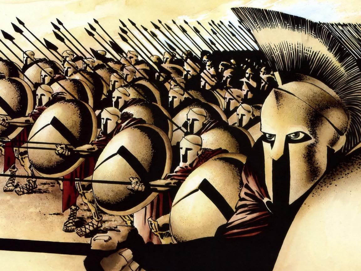 У спартанцев нарисован пресс