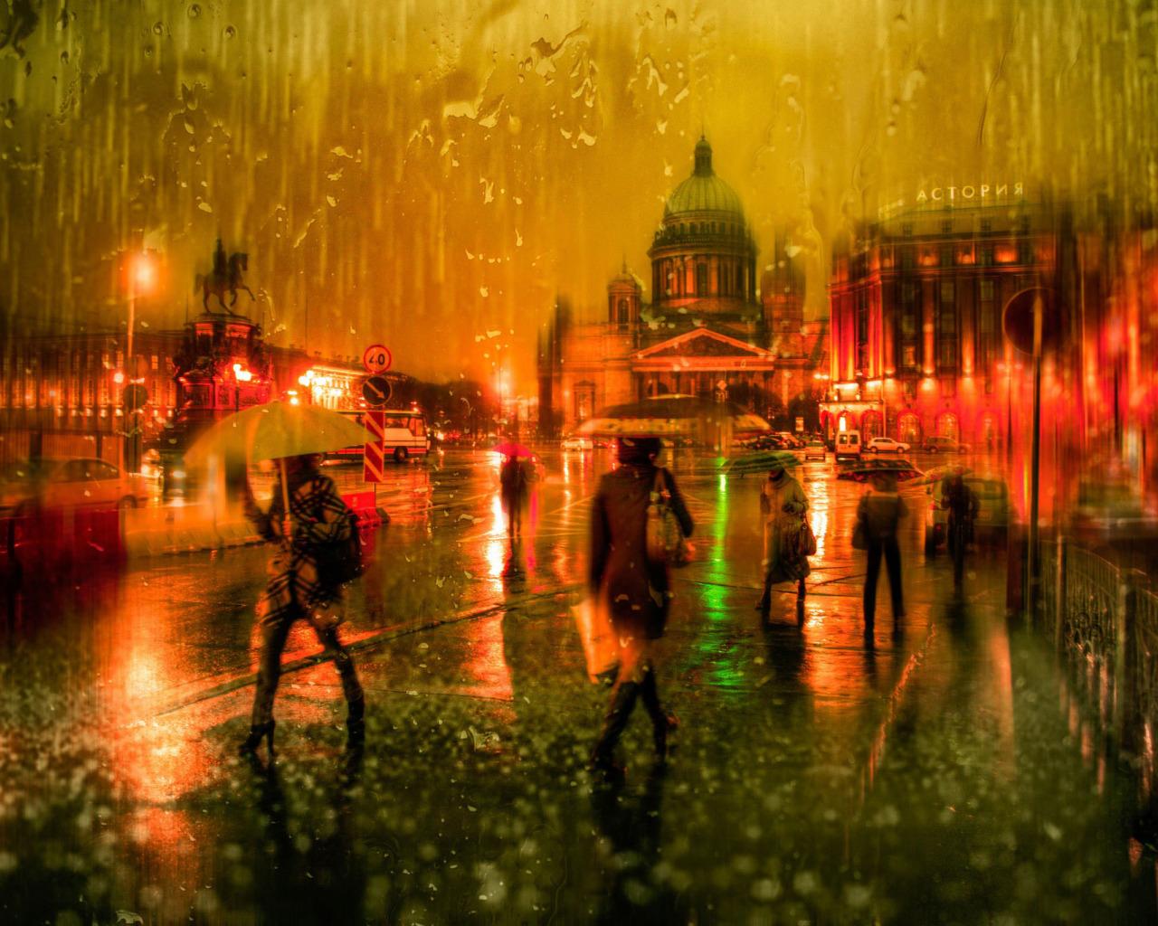 дождь питер обои для рабочего стола № 452384 без смс