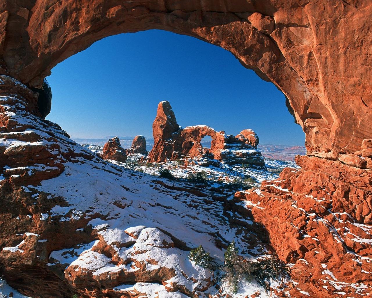 Double-O-Arch, арки, национальный, парк, США, штат, Юта  № 620128 бесплатно