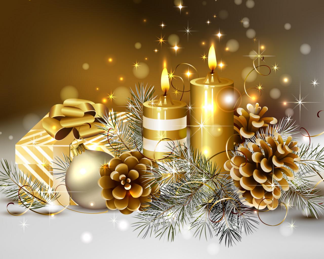 Наступающим праздником новый год