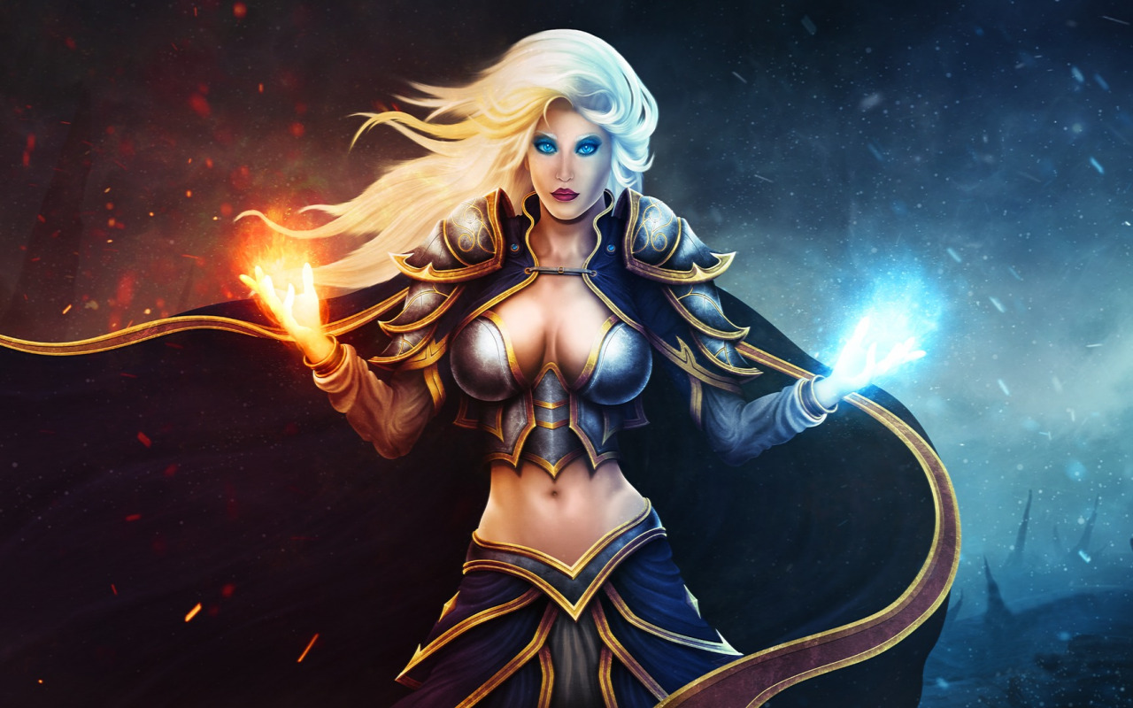 Download sleeping Lady Sylvanas and Jaina Proudmoore  hentai tube