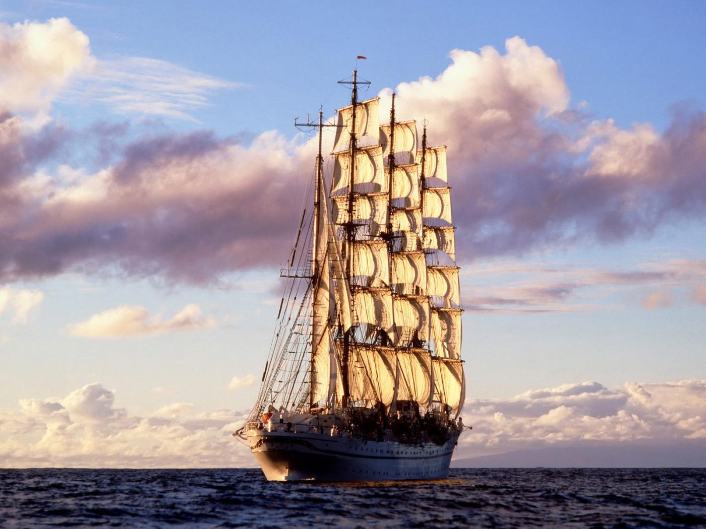 Картинки парусные корабли в море, корпоративная открытка картинки