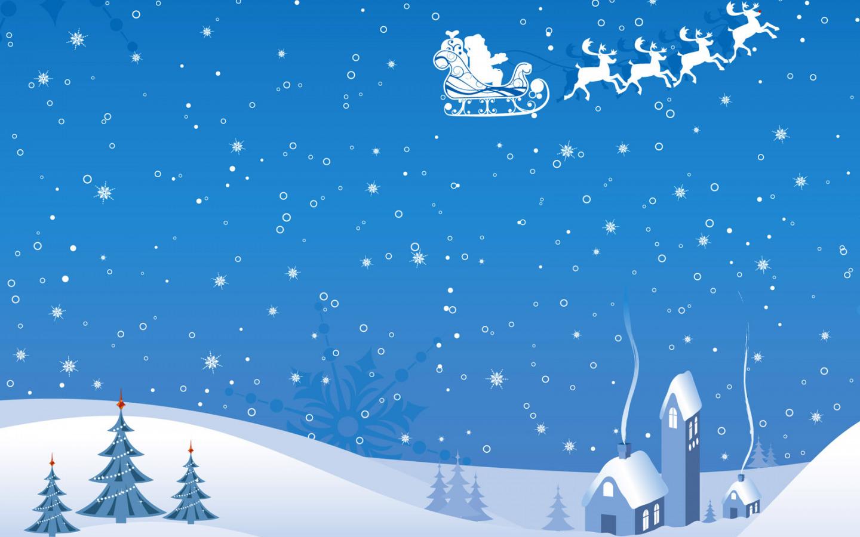 Утки, снежные открытки новый год