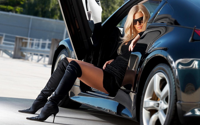 фото девушки возле машины жена вела