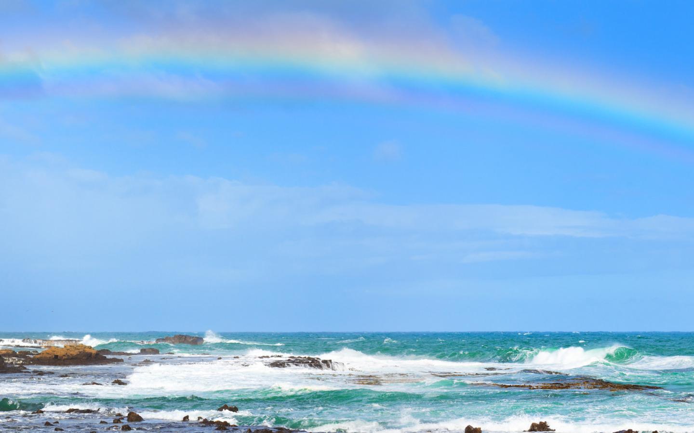 съёмочной обои море радуга ждут