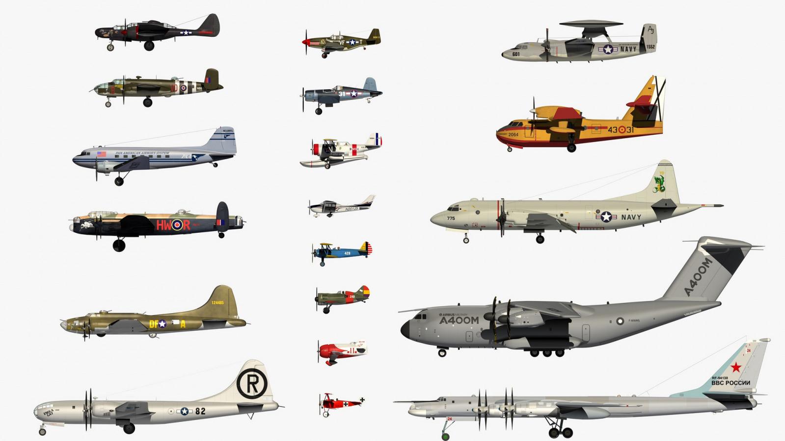 как разновидности самолетов картинки обшиваемой поверхности