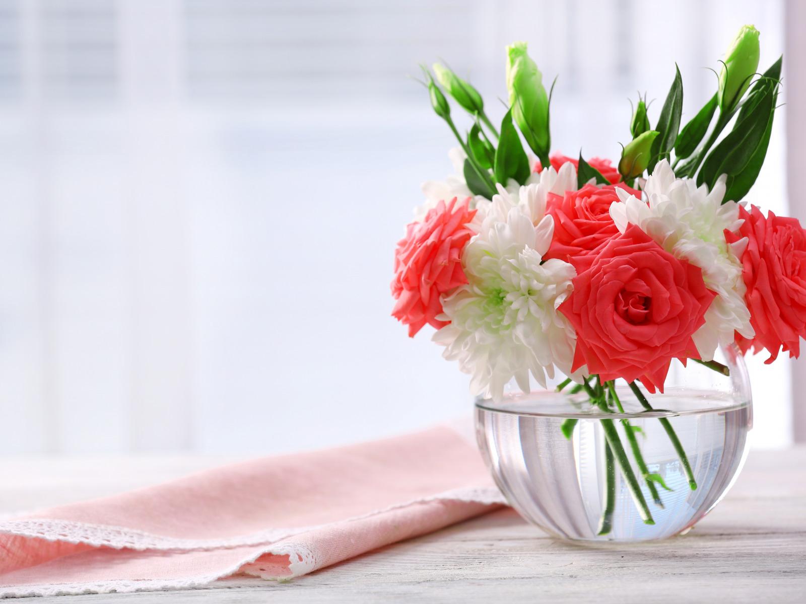 розы цветы ваза  № 1332572 без смс