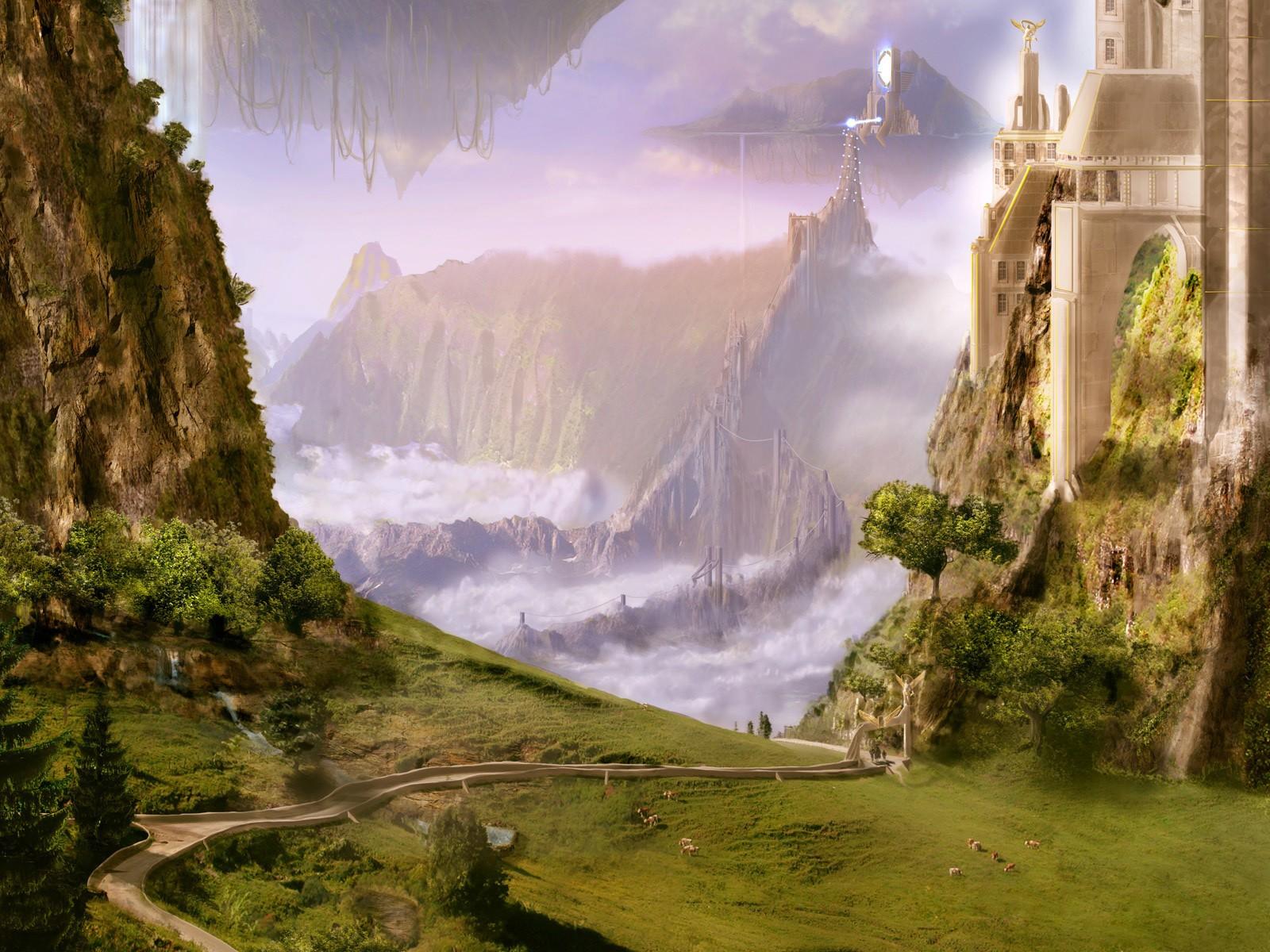 Замок в лучах света  № 917238 без смс