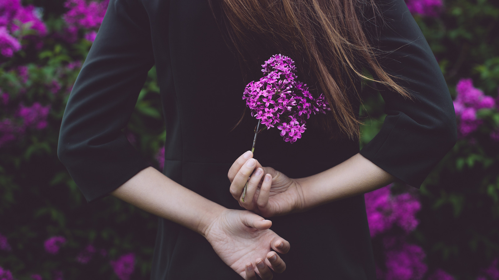 Красивые картинки девушек с цветами в руках без лица, виде банки