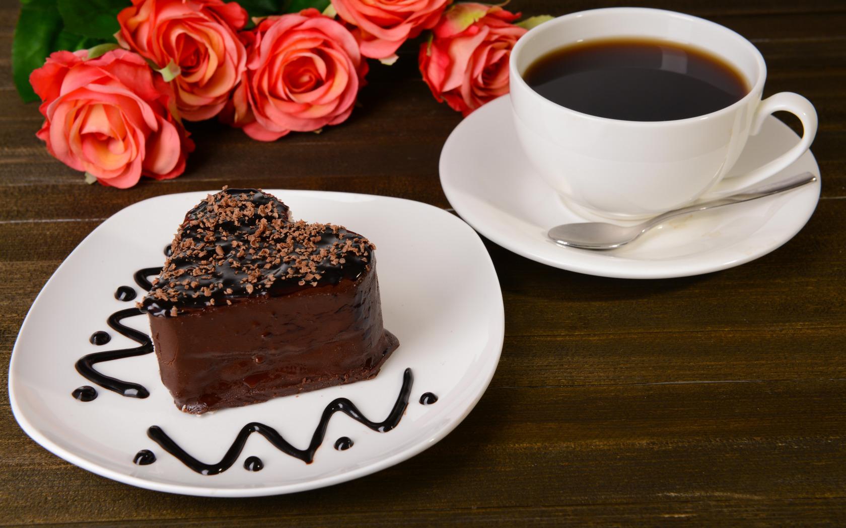 Открытки кофе с тортом, обаятельная