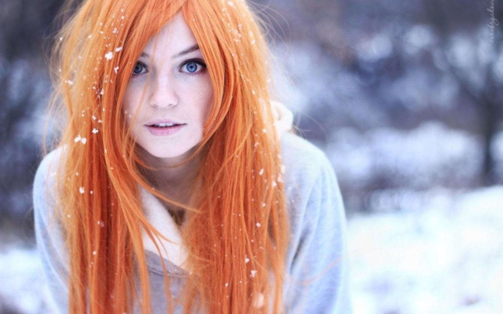 фотографии ярко рыжих девушек - 4