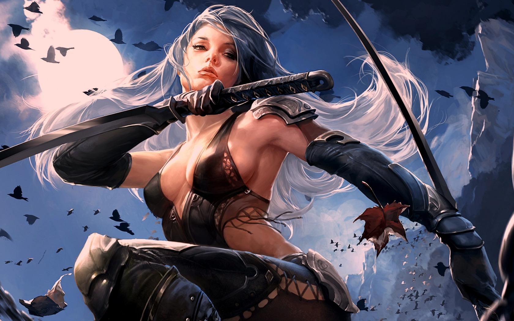 Warrior girls erotic scene