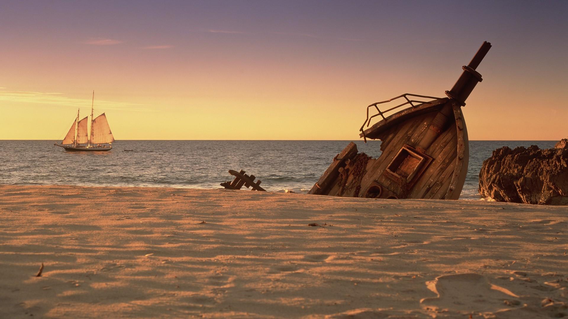 Картинки на рабочий стол море и острова приключения кораблекрушения