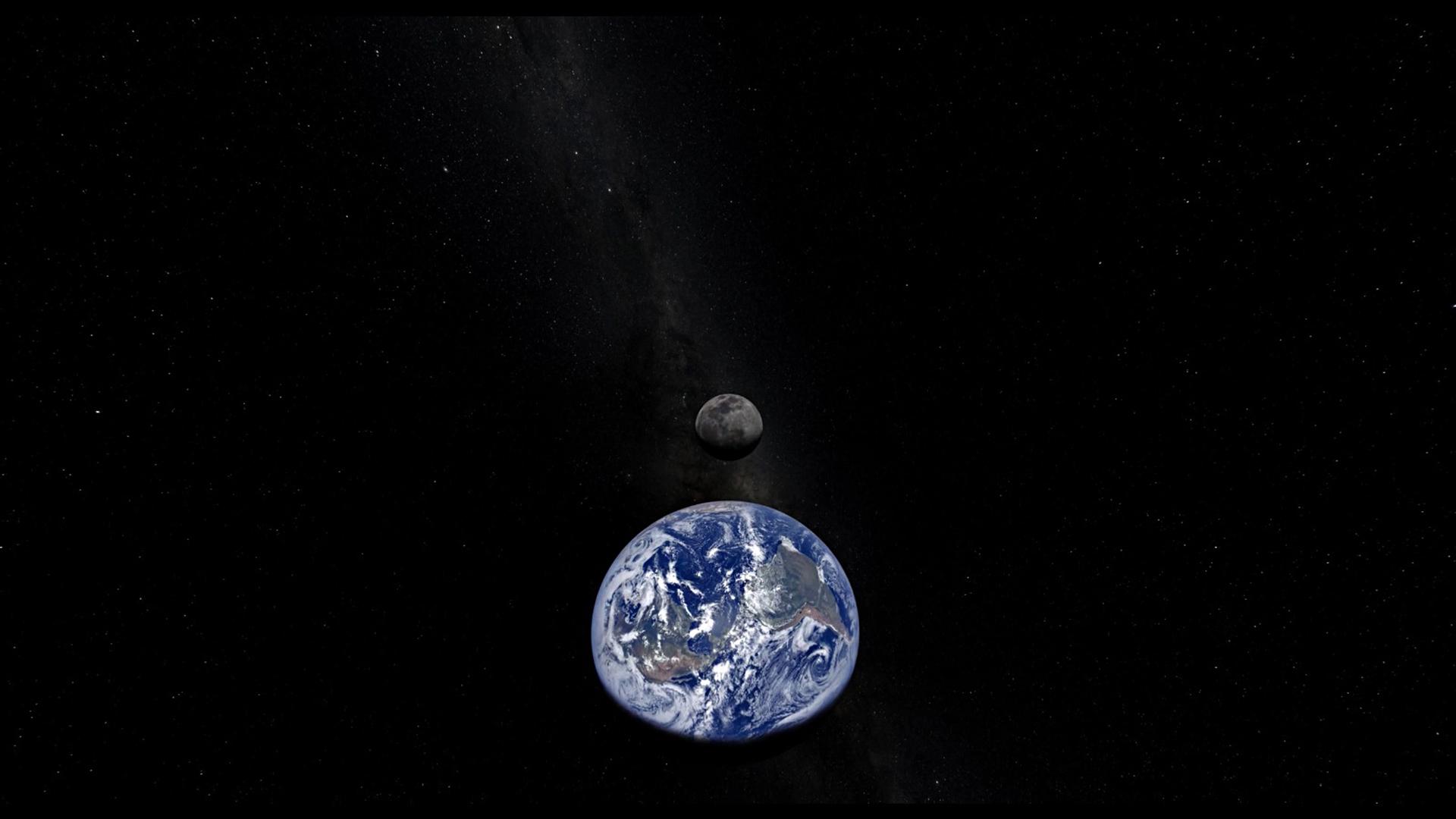 Земля и звезды гифка