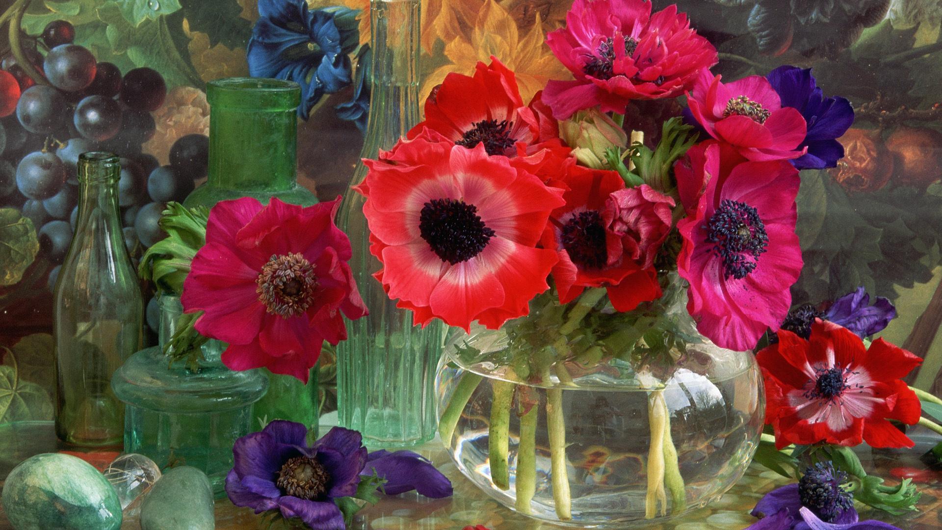 Спокойной, художественные открытки цветы