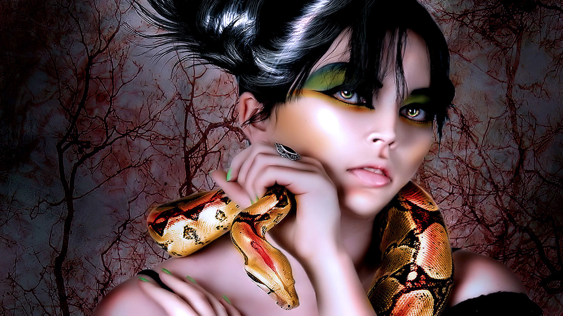 3d snake girl nude photo