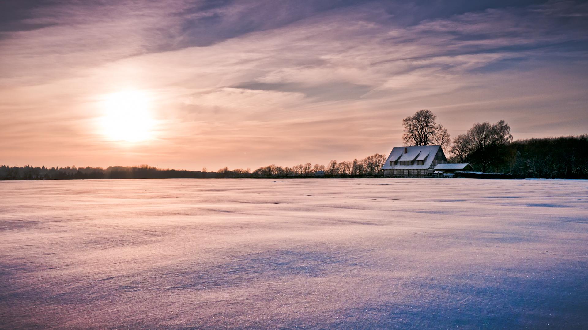 Картинки дом на природе с солнцем