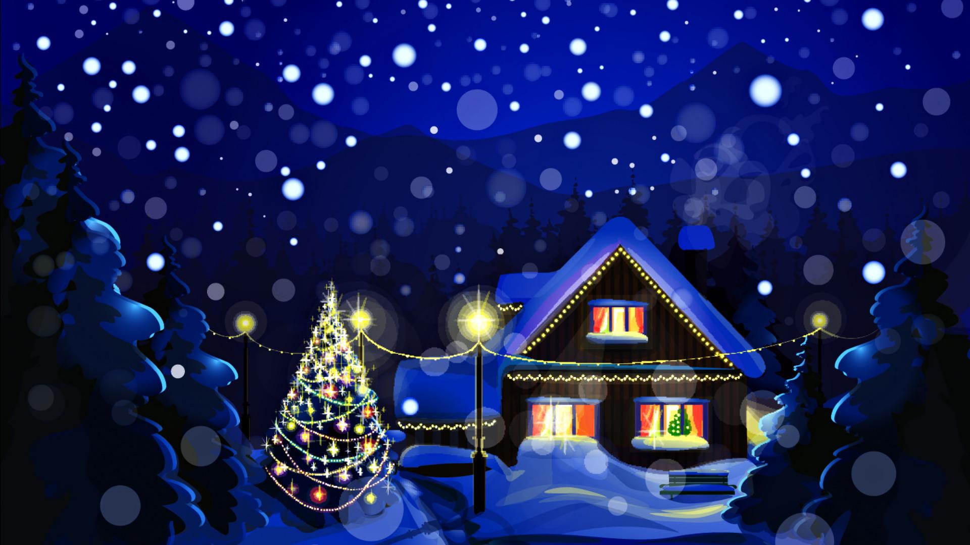 Рисунки для нового года в доме