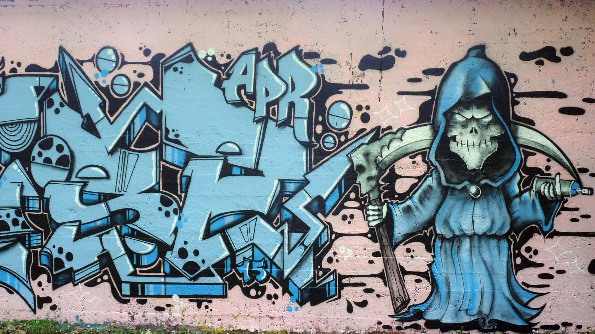 Обои с рисунком граффити