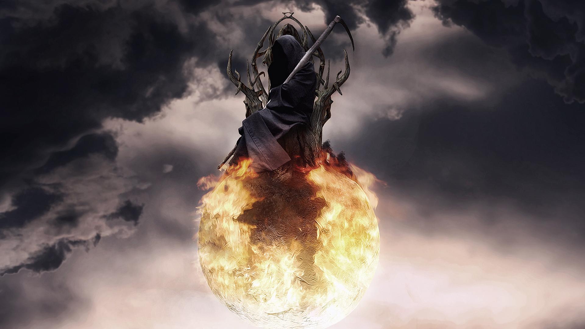 фэнтези графика женщина Grim Reaper  № 3256236 без смс
