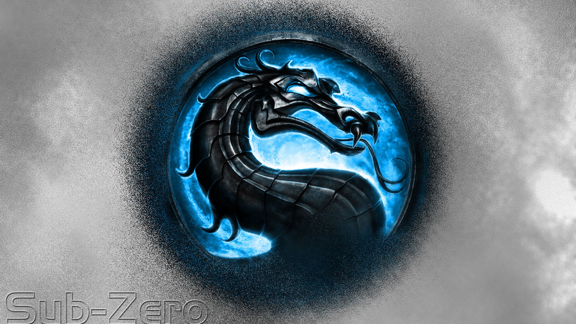 Blue Logo Mortal Kombat