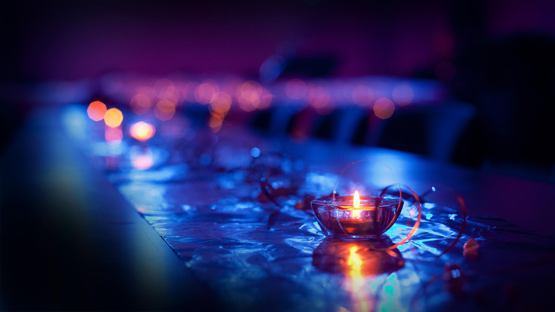 синий фонарь свечка  № 2050180 бесплатно