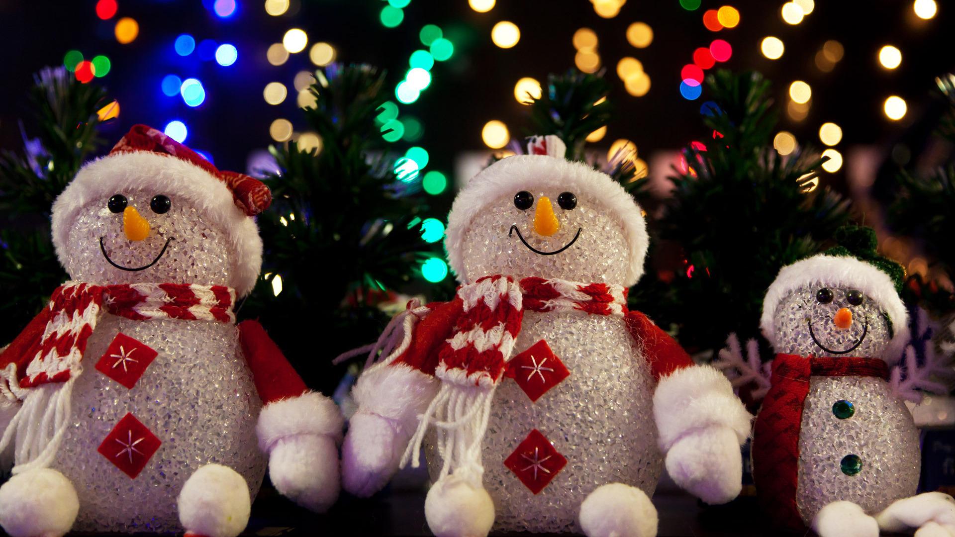 Новогодние картинки со снеговиками на рабочий стол, открытка