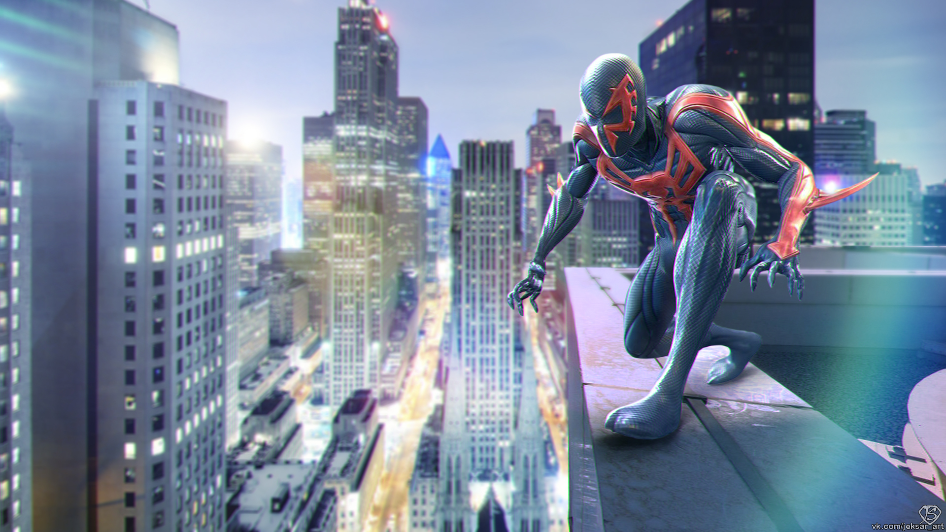 Город человек паук картинки