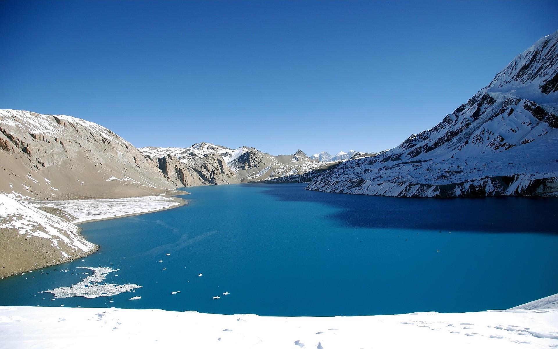 озеро горы снег  № 2476697 загрузить