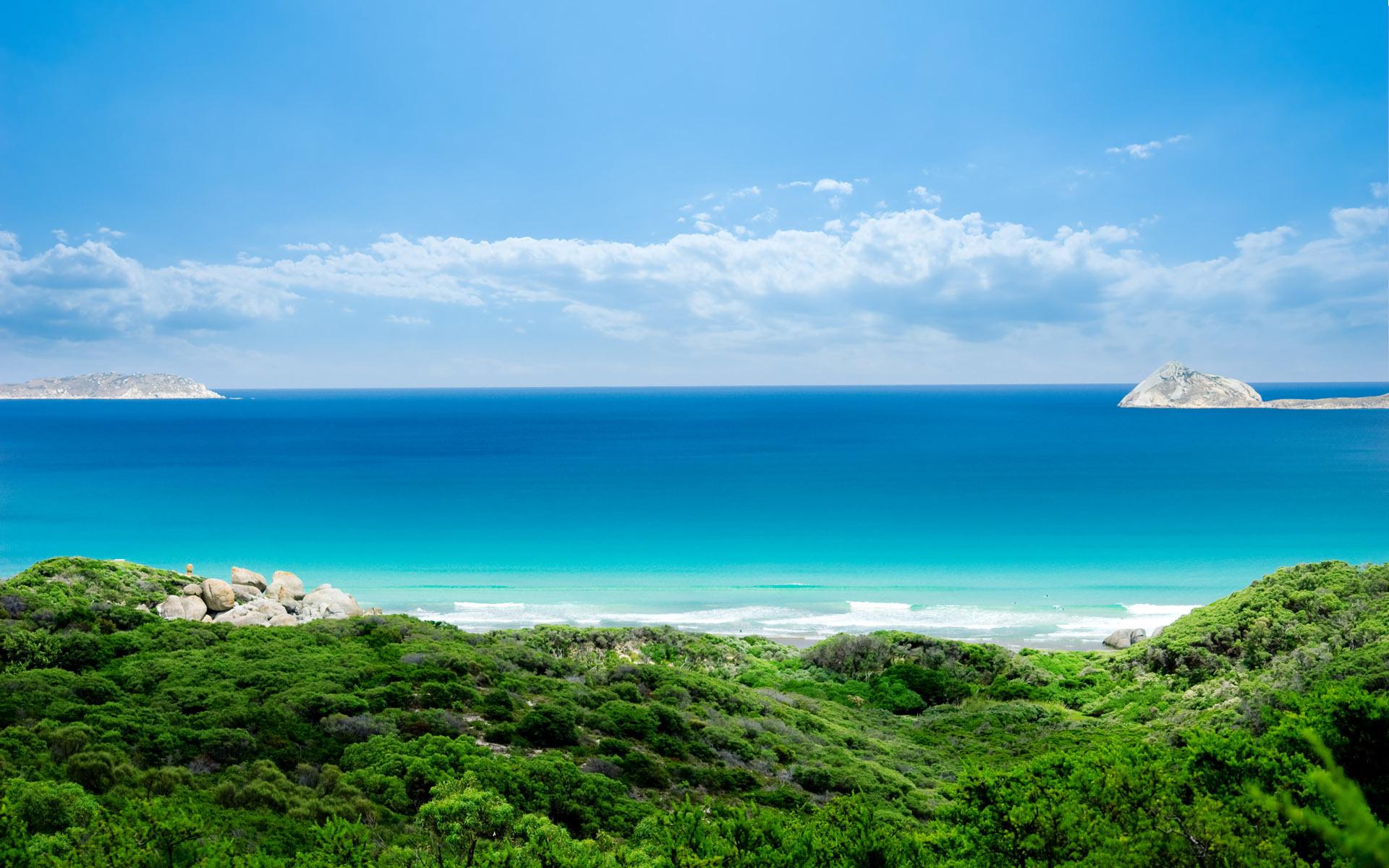 природа море берег небо горизонт  № 3776962  скачать