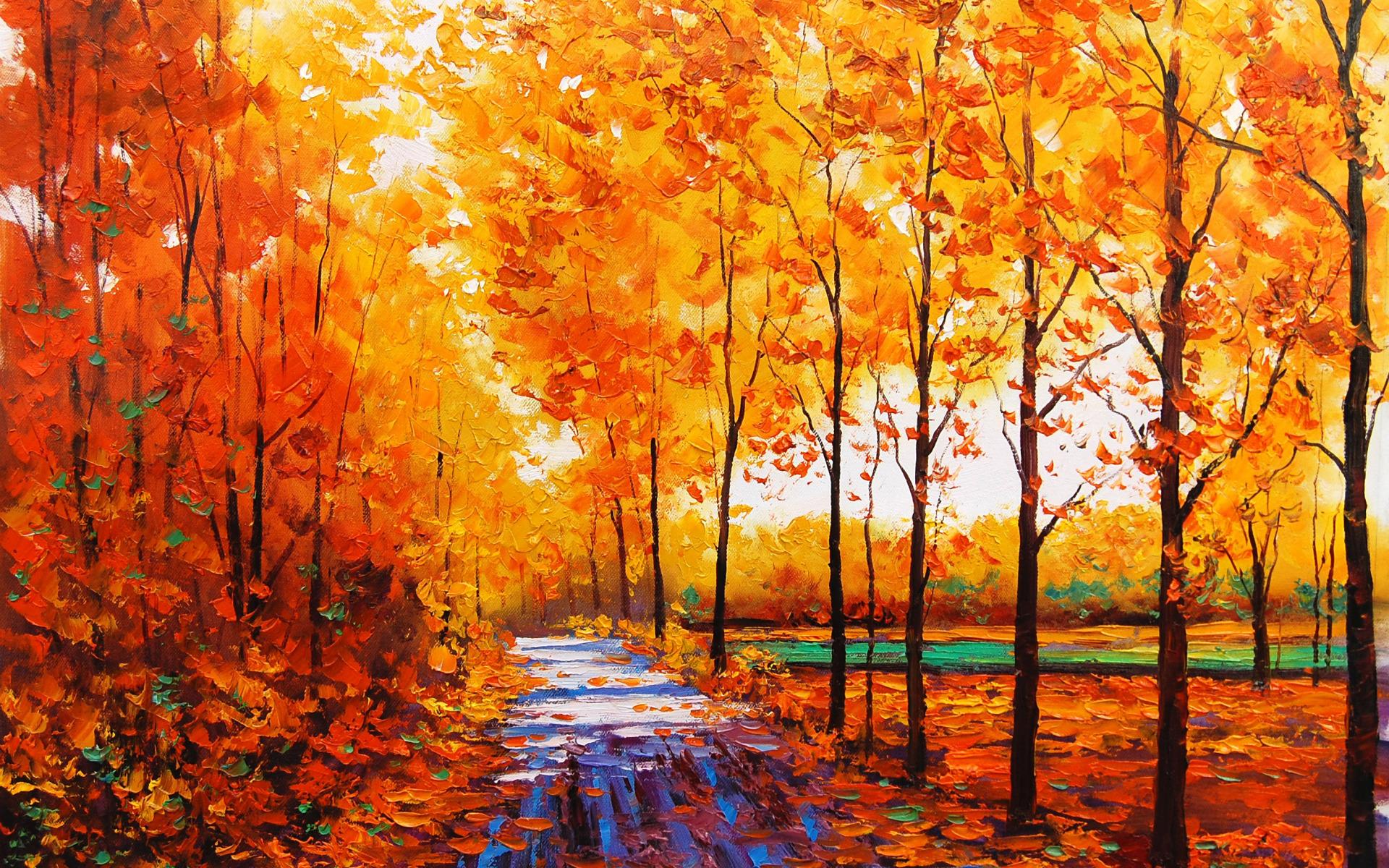 Картинки про осень для рисования