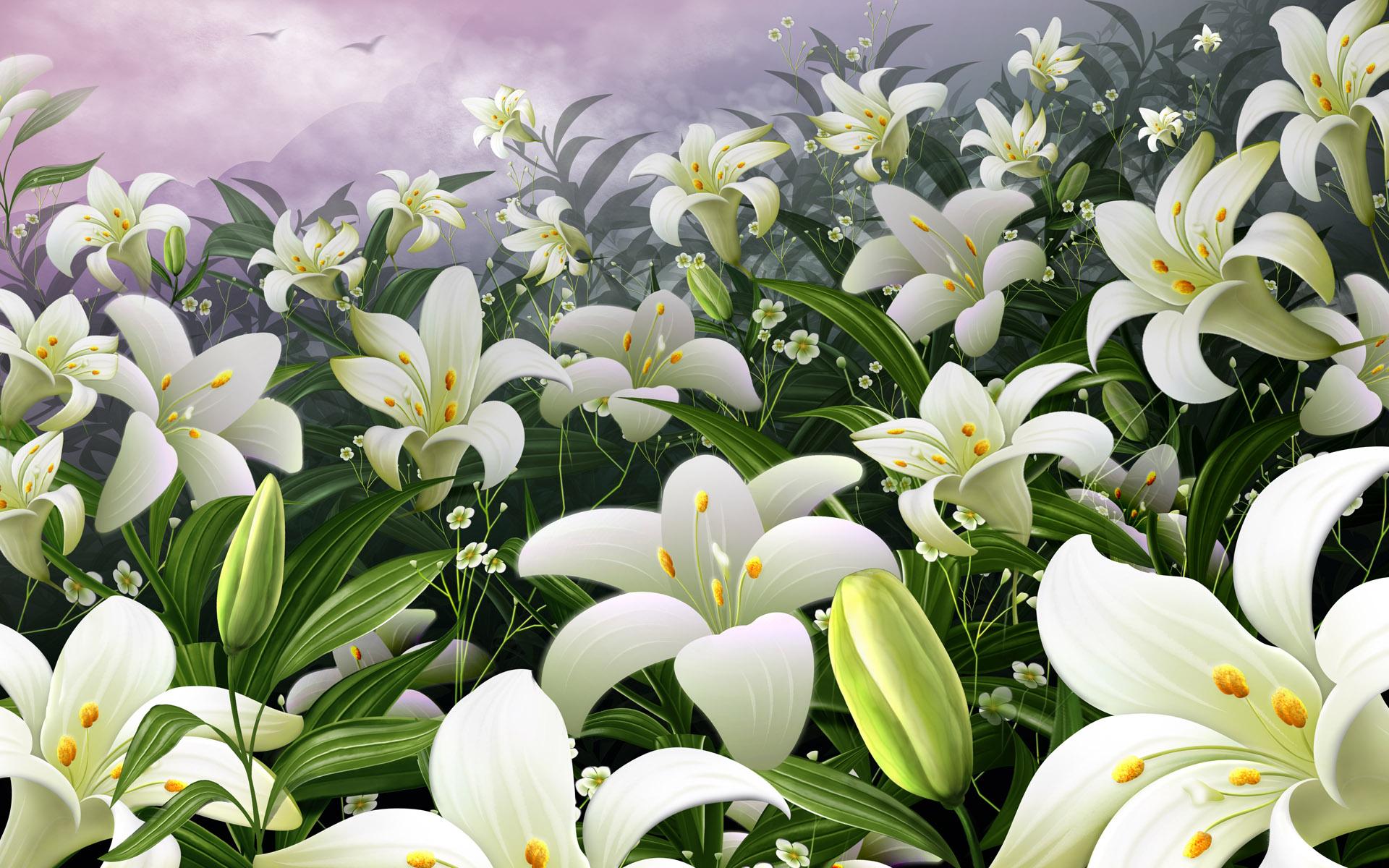 Открытки с днем рождения женщине с лилиями красивые