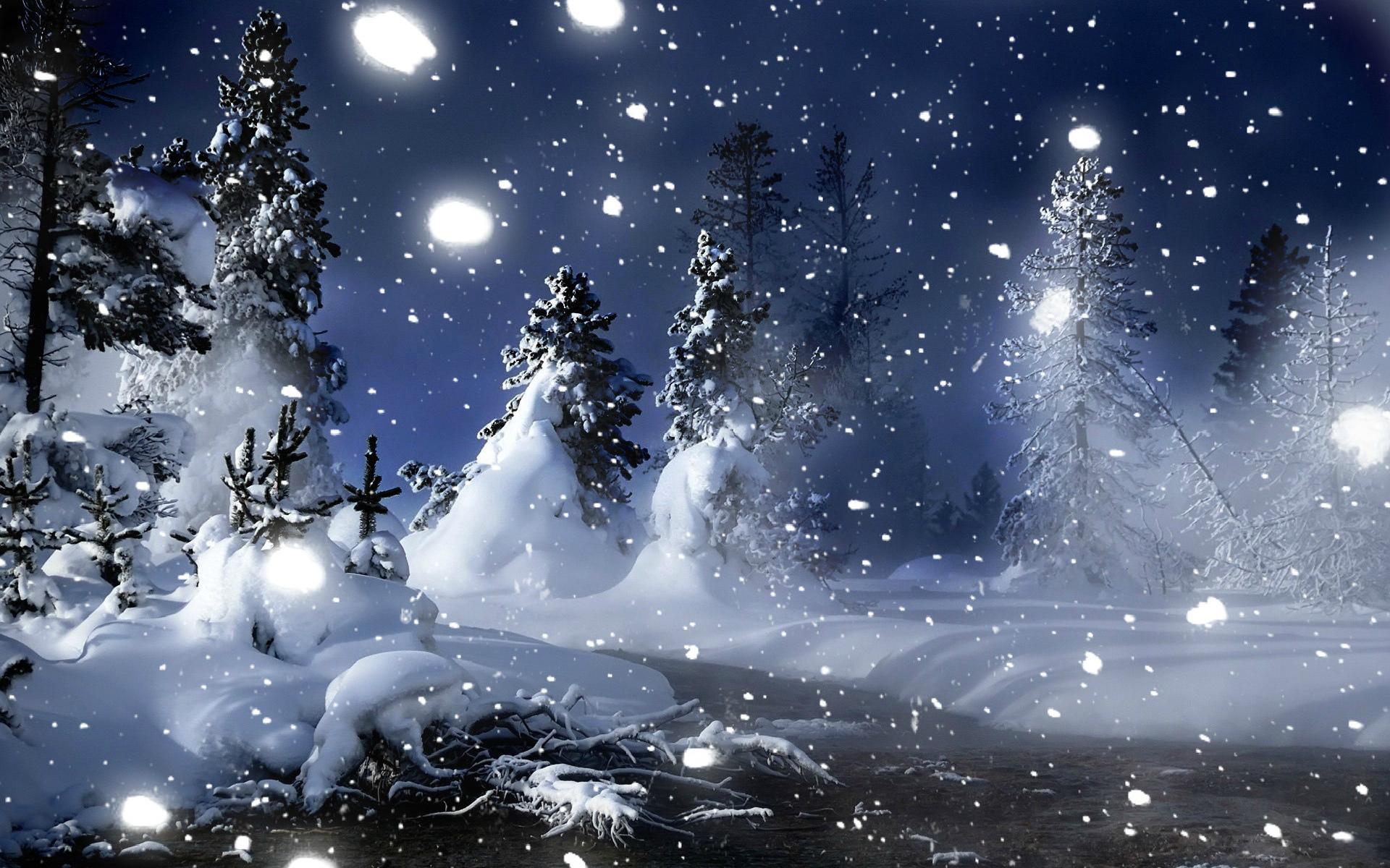 Обои зима анимация, открытки