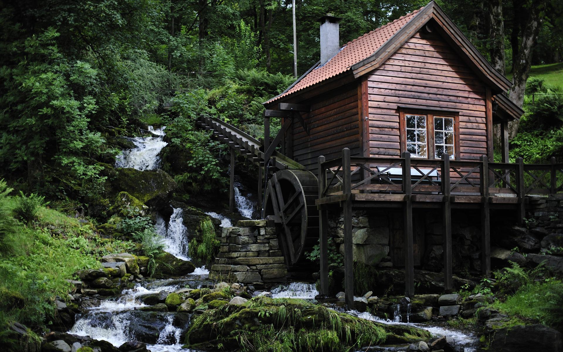 Водяные мельницы фото на рабочий стол красивые