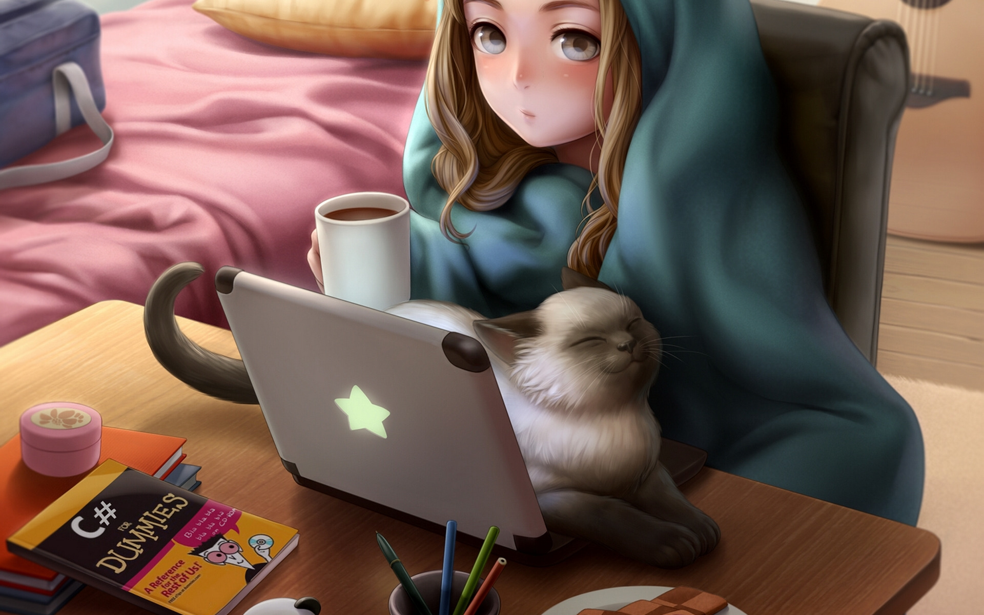 Картинки девочки на рабочий стол ноутбука