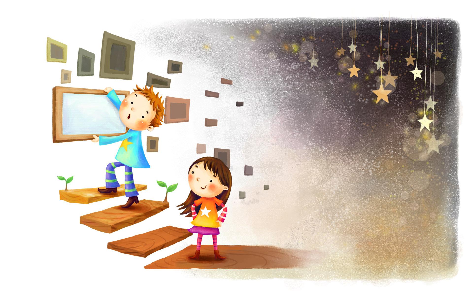 графика рисунок мальчик девочка  № 3349714 бесплатно
