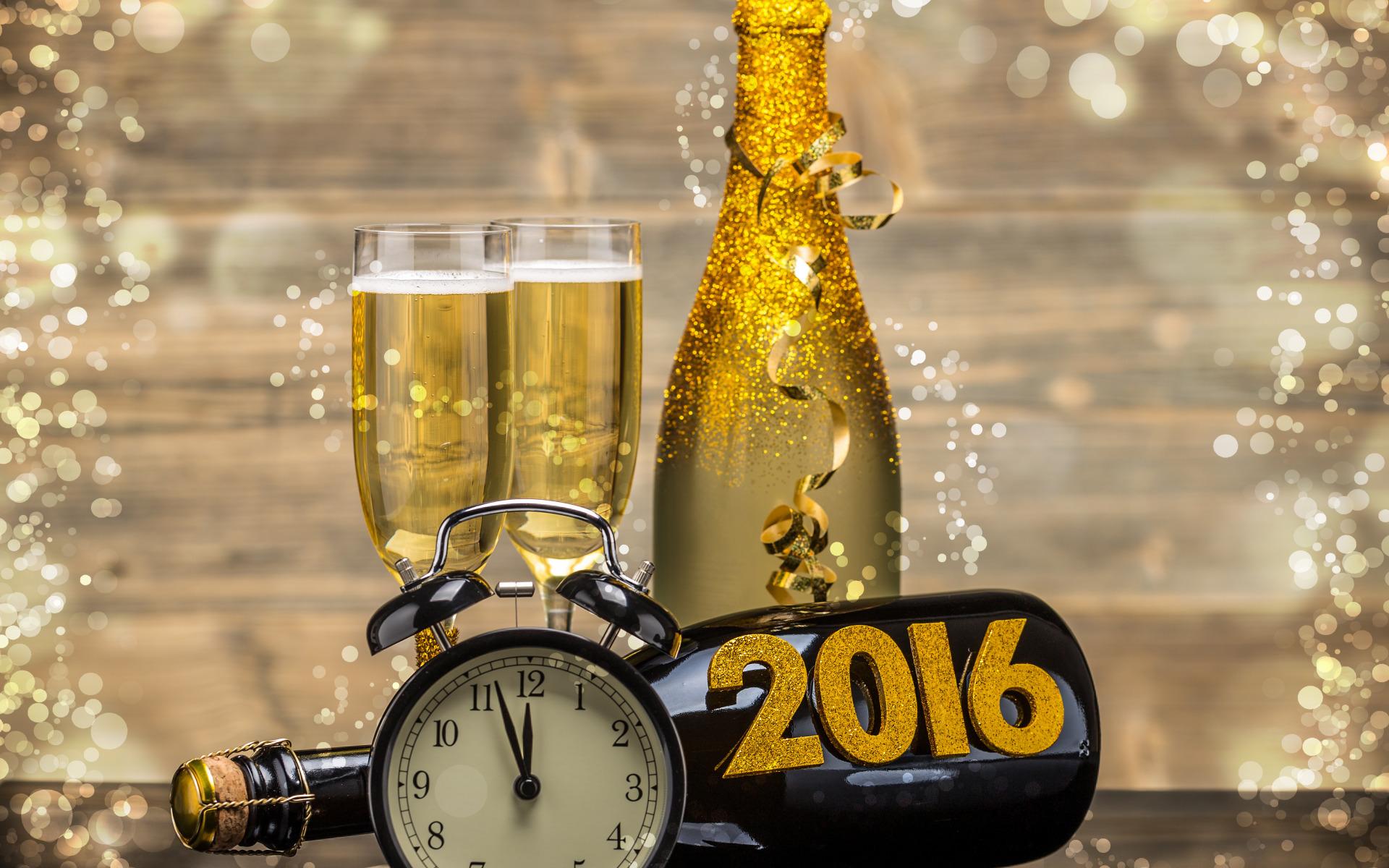 Картинка на рабочий стол шампанское и часы