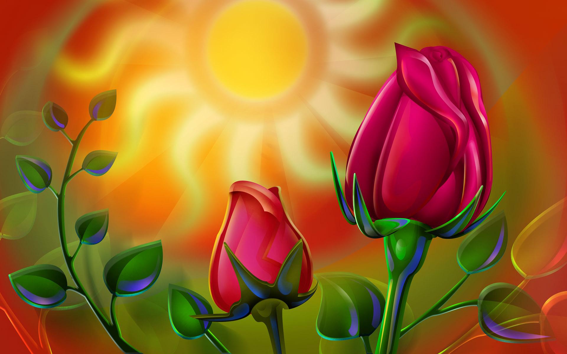 Картинки 3д анимация цветы