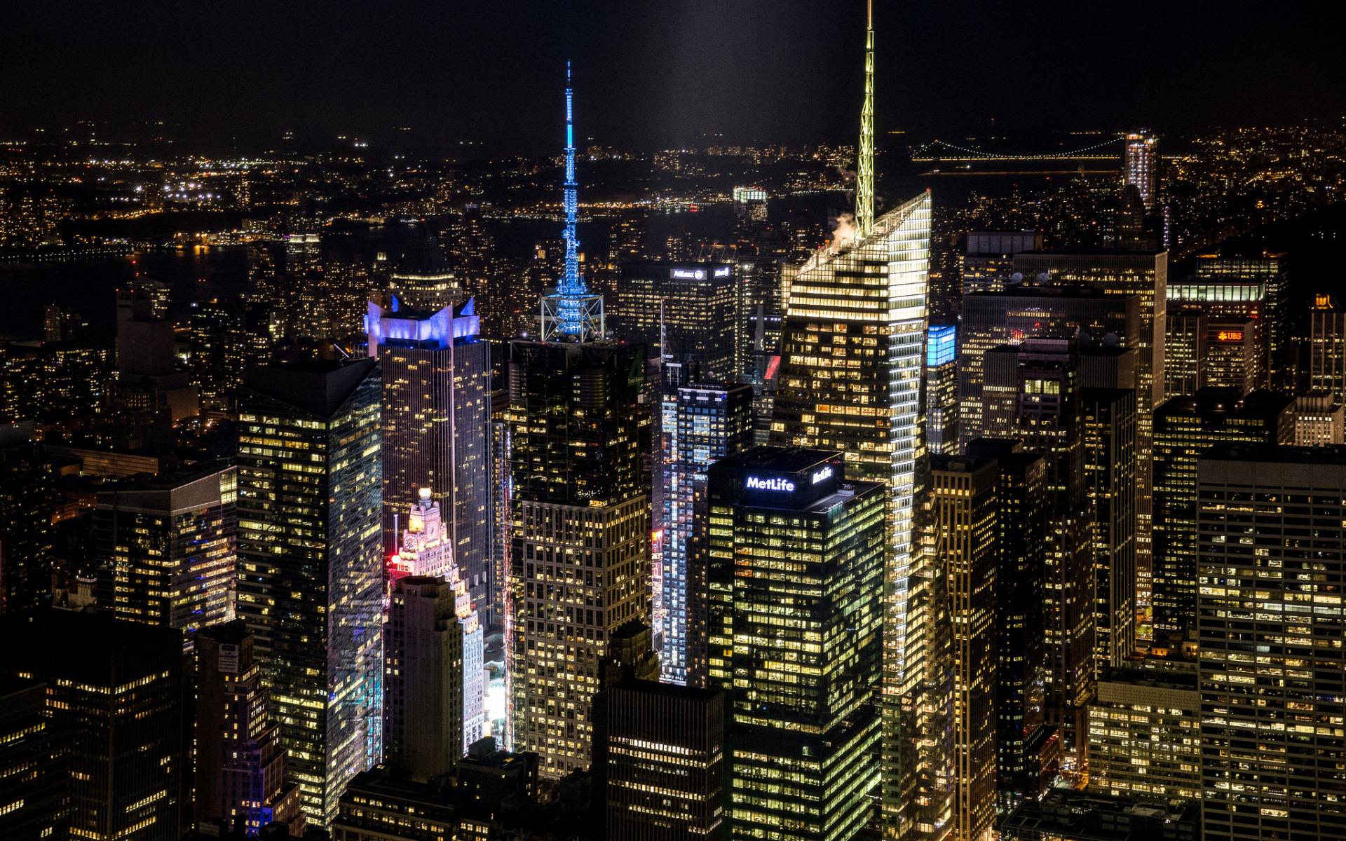 небоскребы ночь город  № 3358868  скачать
