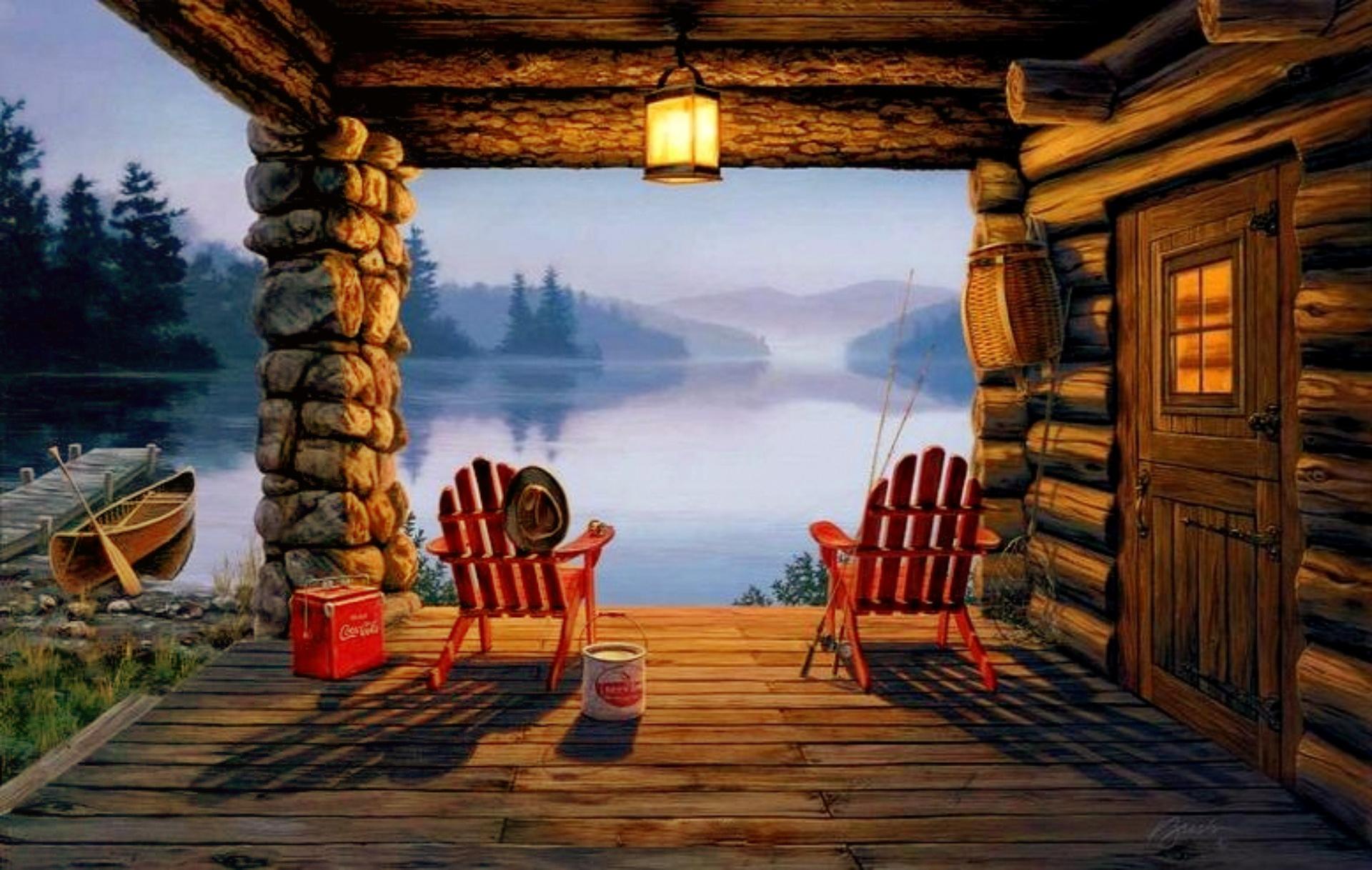 Картинка домик рыбака