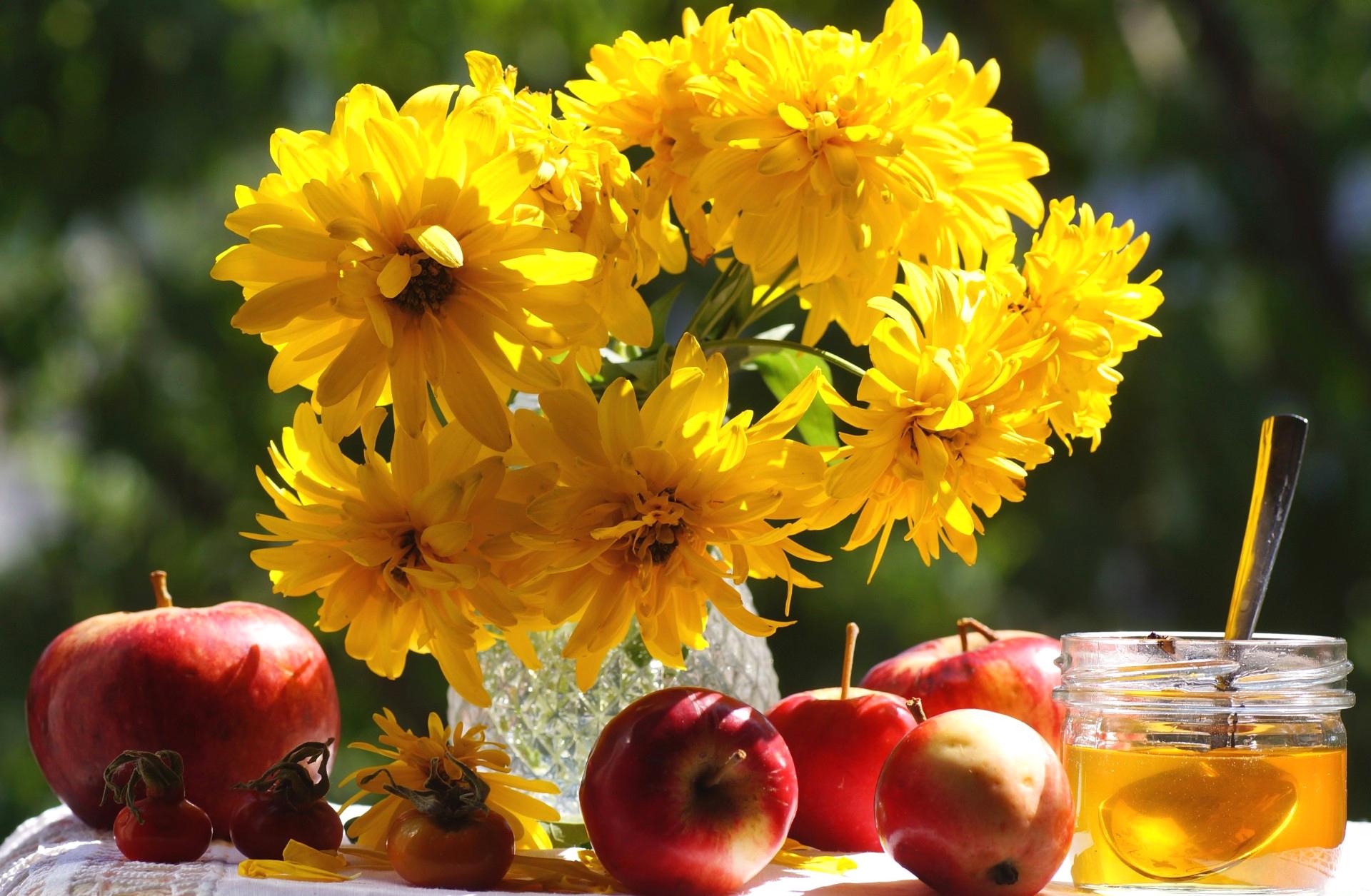 Картинки на рабочий стол осень фрукты цветы