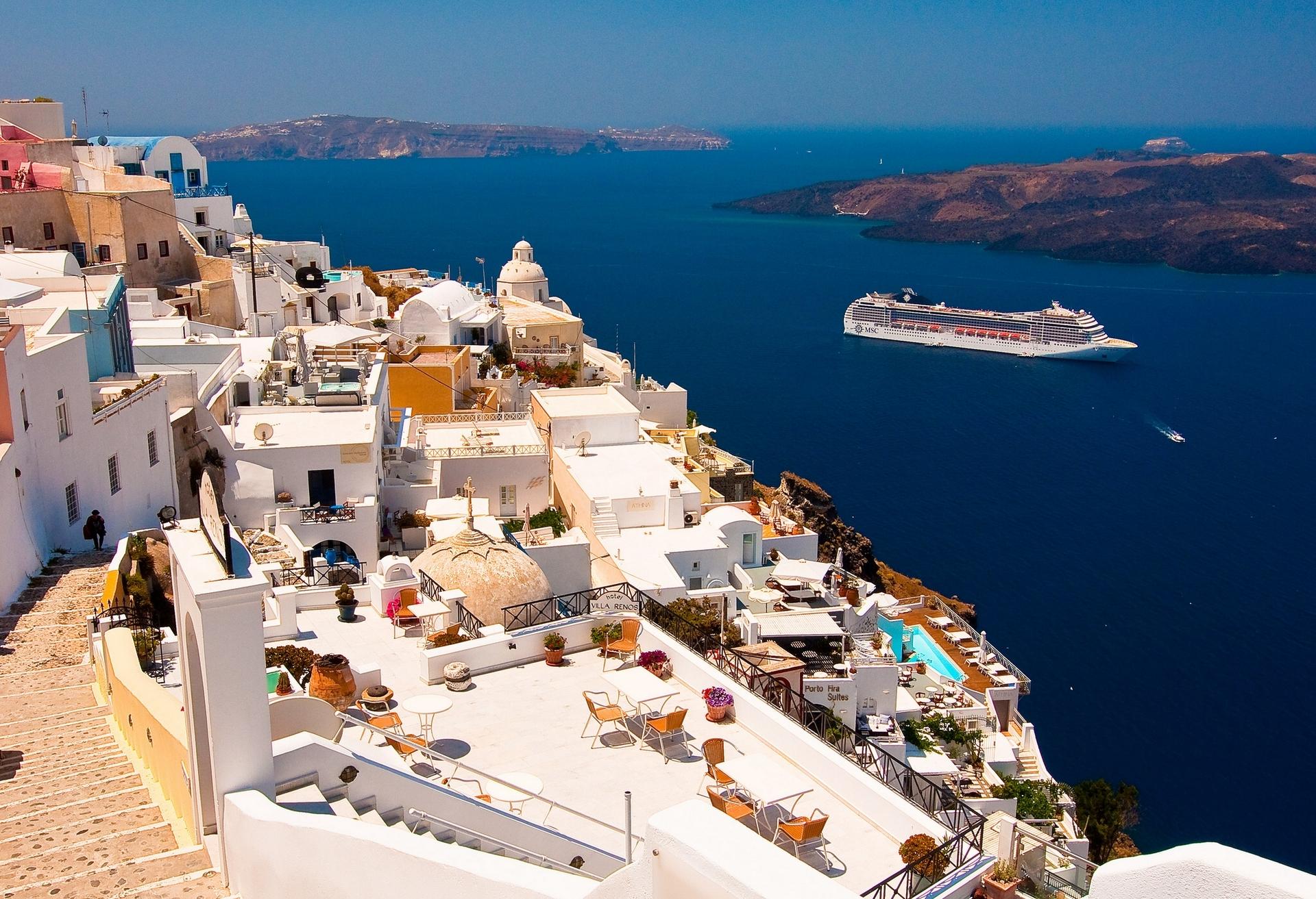 Картинки греция на рабочий стол, февраля поздравления