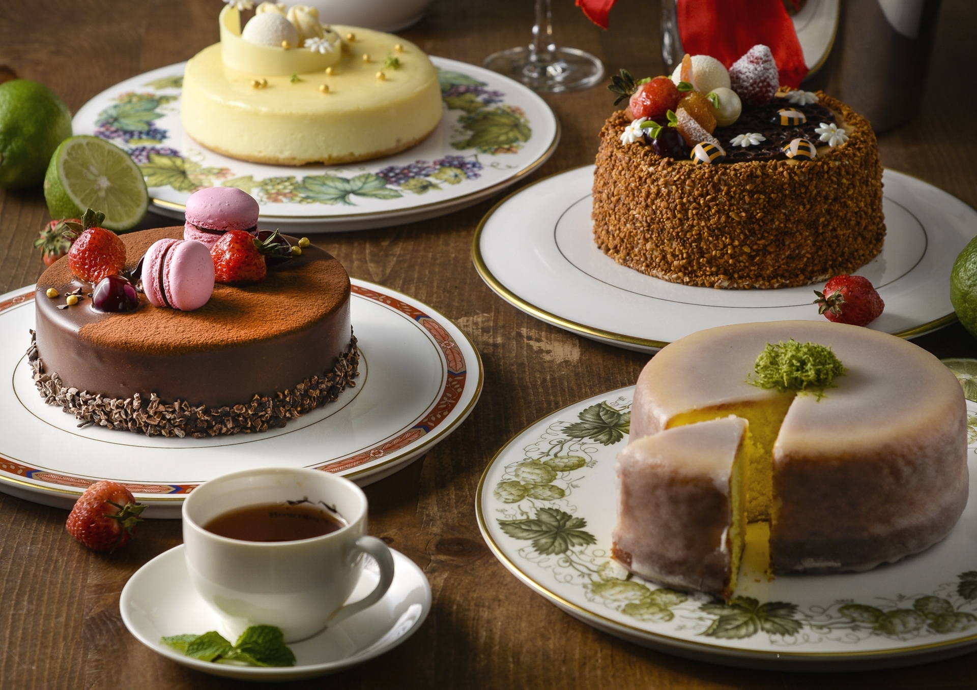Для любимого, картинка чаепития с тортиком