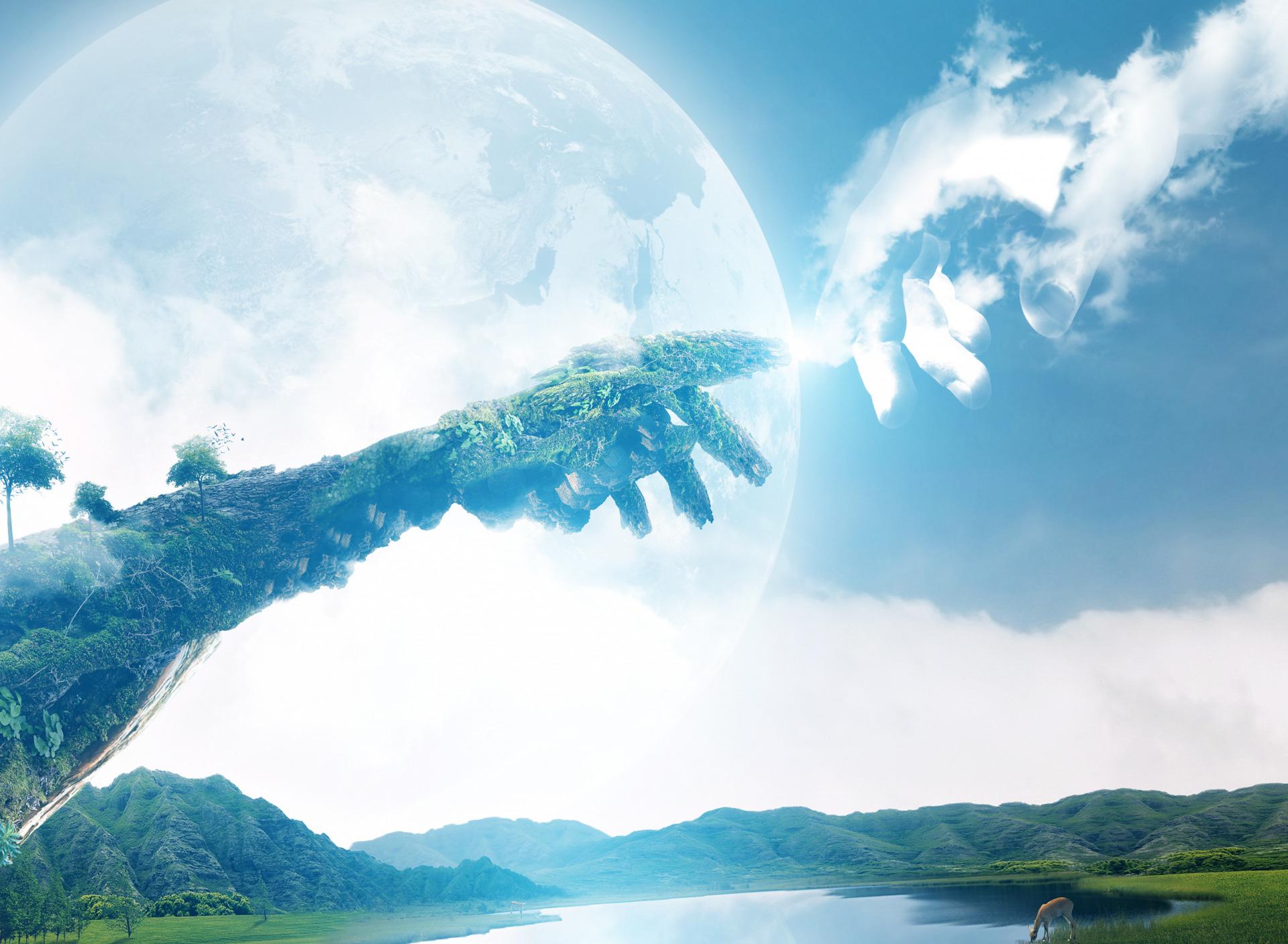 картинка где встречаются небо и земля стала